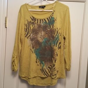 Style & Co Printed Blouse (t)